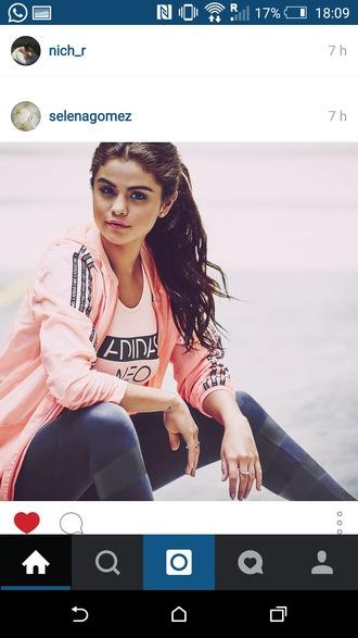 jacket selena gomez pink jacket adidas