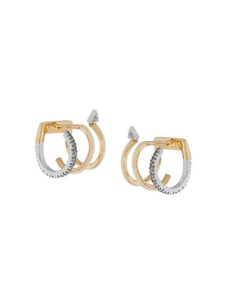 Maria Black women earrings gold grey blanc metallic jewels