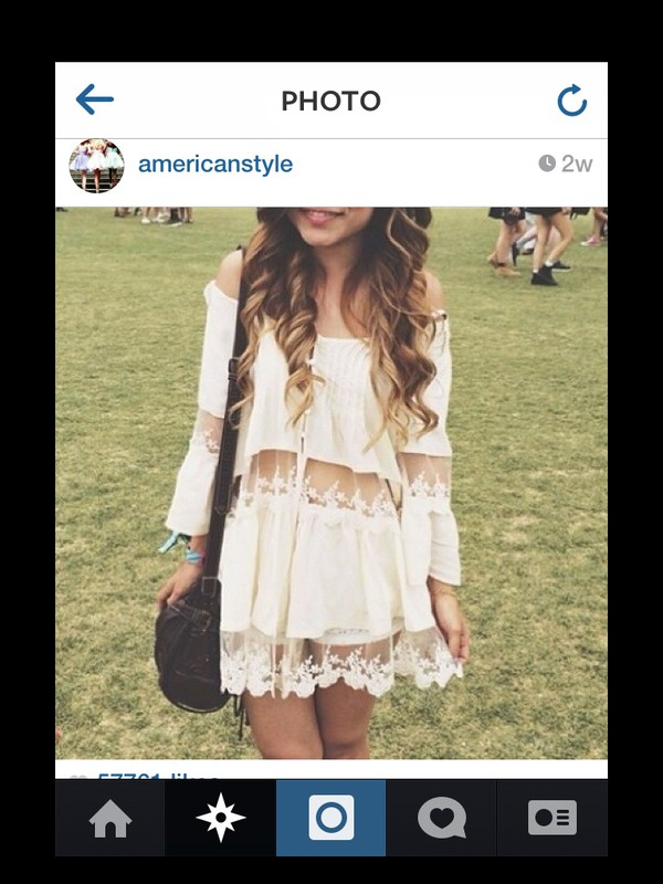 dress white dress cute dress dress see through sheer girly americanstyle