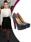 Kim kardashian heels black leather round toe platform red bottom chunky 140 mm new simple pump pumps