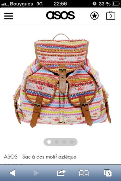 bag asos backpack azteque