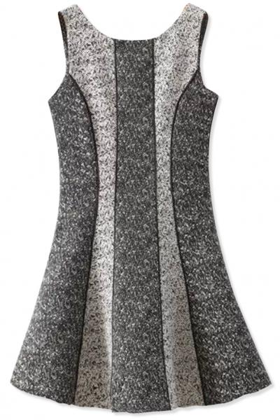 Sweet grey sleeveless mini a
