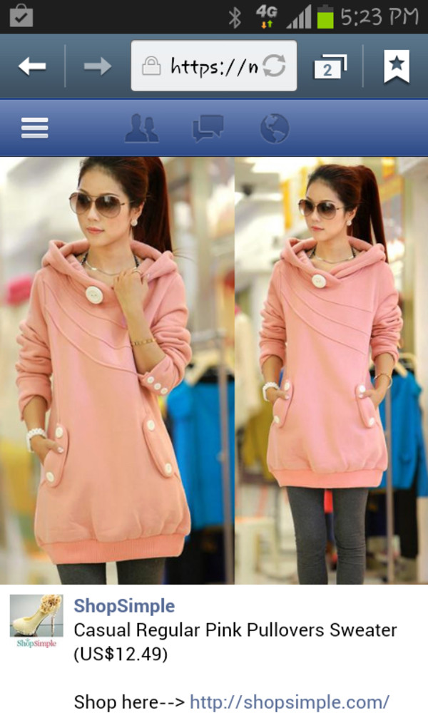 jacket hoodie soft pink buttons classy