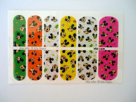 disney mickey mouse minnie mouse nail accessories nail polish nail art manicure pedicure cartoon stickers wraps