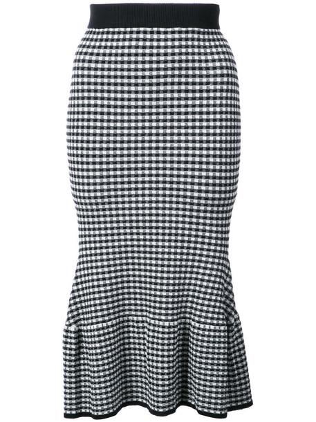 Jonathan Simkhai skirt pencil skirt women spandex black gingham