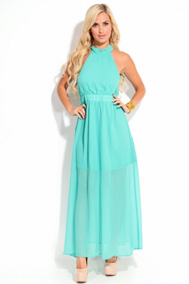 JADE SHEER CHIFFON MOCK NECK HALTER CUT OUT BACK MAXI DRESS,Women Maxi Dresses-Long Maxi Dresses,Floral Maxi Dresses,Striped Maxi Dresses,Print Maxi Dresses,Occasion Maxi Dress,Formal Maxi Dresses,Lace Maxi Dress,Black Maxi Dress at Cheapest Maxi Dresses Store
