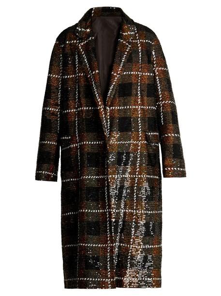 Ashish coat embellished cotton brown
