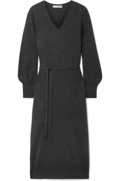 dress midi dress midi wool charcoal