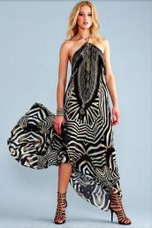 dress,zebra print,silk,parides,bikiniluxe