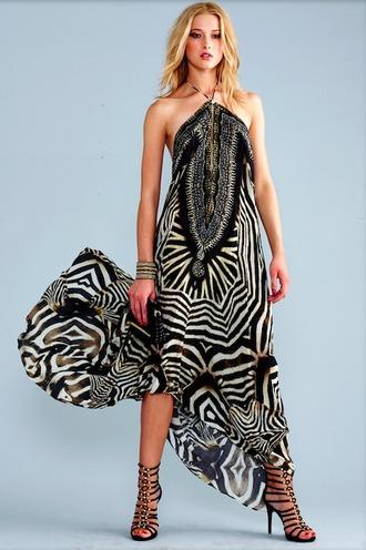 dress zebra print silk parides bikiniluxe