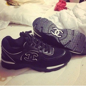 shoes chanel sneakers sports shoes sport shoes white black chanel shoes