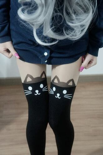 pants cats tights cat tights leggings cat leggings