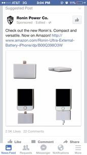 Ronin Ultra Slim External Battery for iPhone,technology