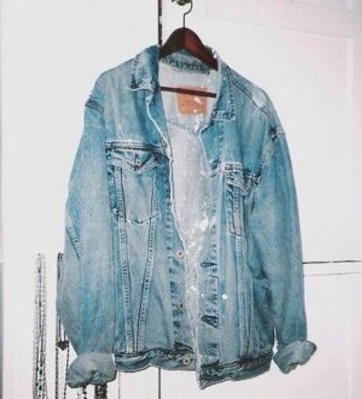 90s jacket grunge vintage denim jacket