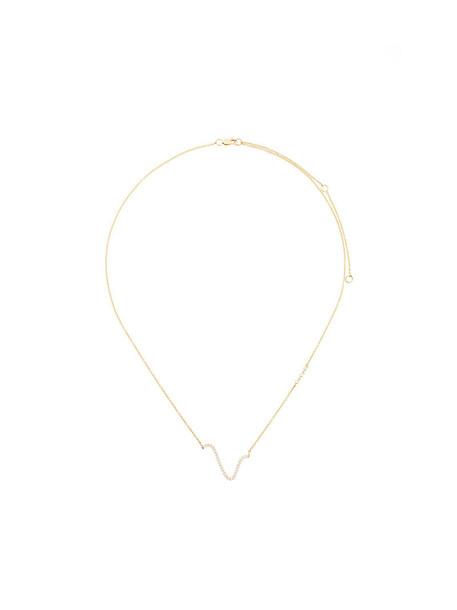 Paige Novick women necklace pendant gold grey metallic jewels