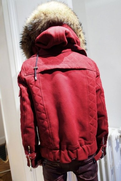 red coat coat clothes jacket men