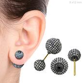 jewels,diamonds,earrings,ball earrings,14k gold jewelry,pave diamond earrings,stud earrings,silver earrings,gold earrings,fashion jewelry,diamond earrings,handmade jewelry,abhaas jewels