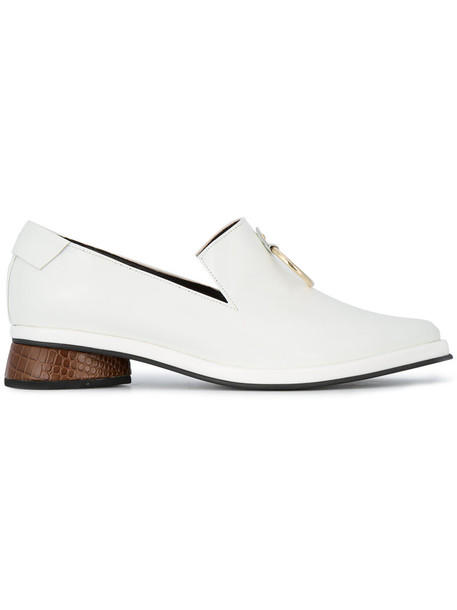 Reike Nen women loafers leather white shoes