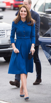 coat,monochrome,monochrome outfit,blue,fall outfits,kate middleton