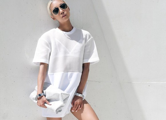 dress fashion white top t-shirt girly model