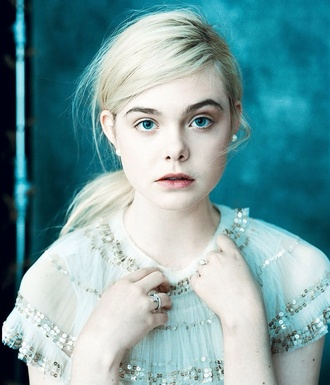 blouse elle fanning pale vintage sequin dress sequins