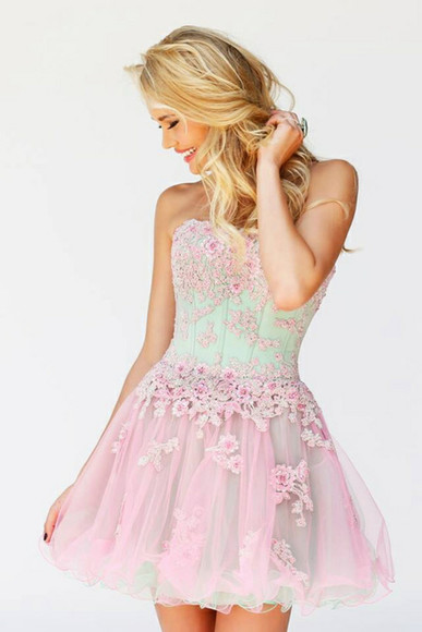 dress prom dress pink dress sherrihill prom gown shortdress