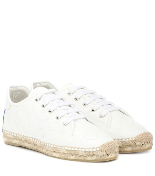 Stella McCartney Faux leather espadrille sneakers in white
