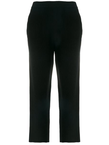 Joseph cropped women spandex black wool pants