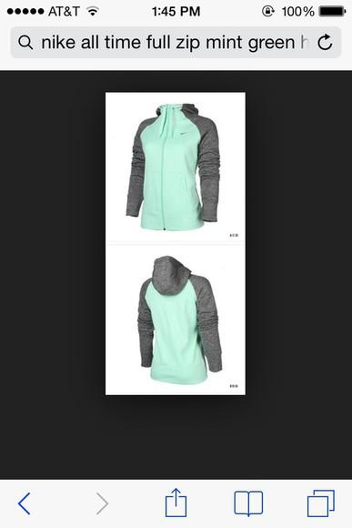 jacket mint nike sweater