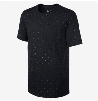 t-shirt nike polka dots large nike tshirt