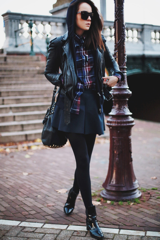 style scrapbook jacket skirt shoes shirt sweater bag