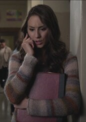 sweater,strip,knit,troian bellisario,spencer hastings,pretty little liars,pullover,bag,backpack