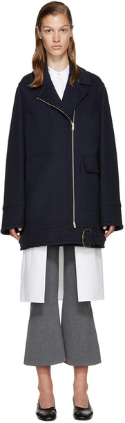 coat wool coat blue wool