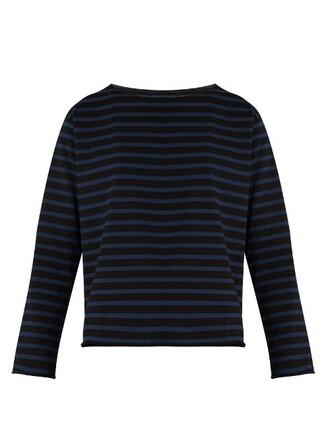top cotton blue black
