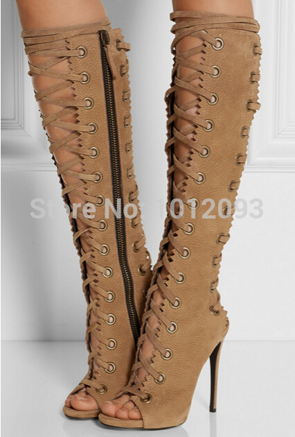 Peep Toe Gladiator Heels
