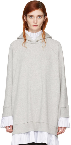 Mm6 Maison Margiela dress hoodie dress layered grey
