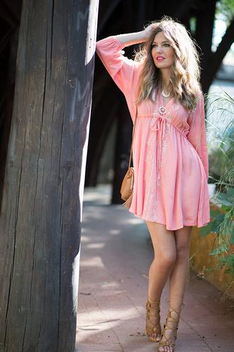 mi aventura con la moda blogger spring dress pink dress