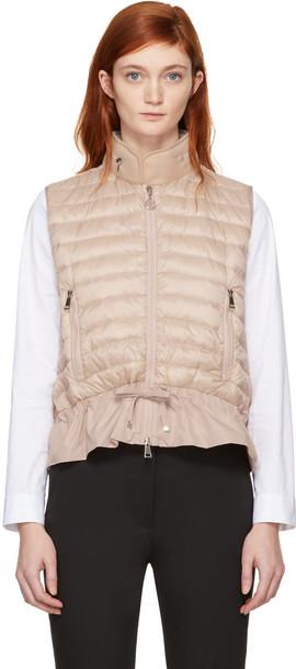 moncler vest pink jacket