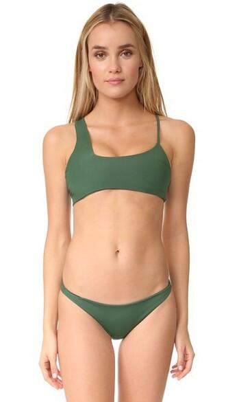 bikini bikini top cross forest swimwear