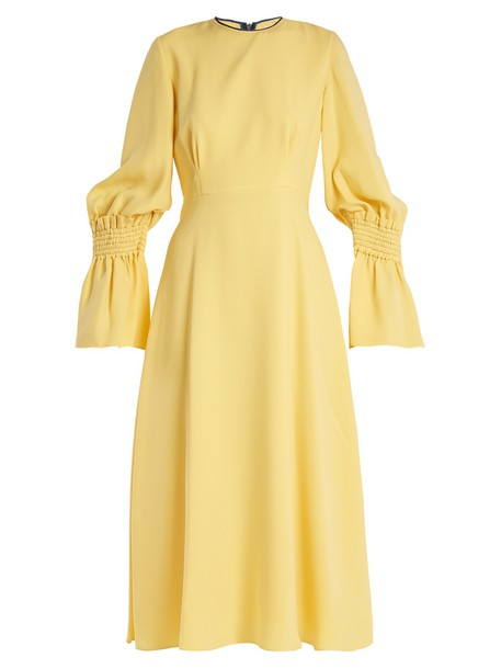 Roksanda dress silk yellow