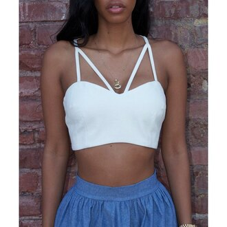 top rose wholesale white crop tops pretty strappy girly girl girly wishlist crop