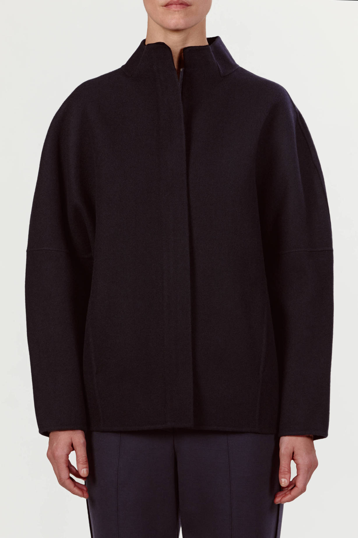 Vince — Double Face Wool Sculptured Jacket   Coastal — THE LINE