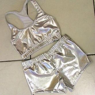 shorts metallic metallic shorts sportswear