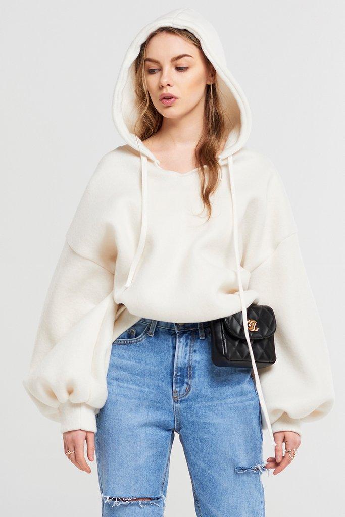 Adora Soft Woven Hoodie Sweatshirt