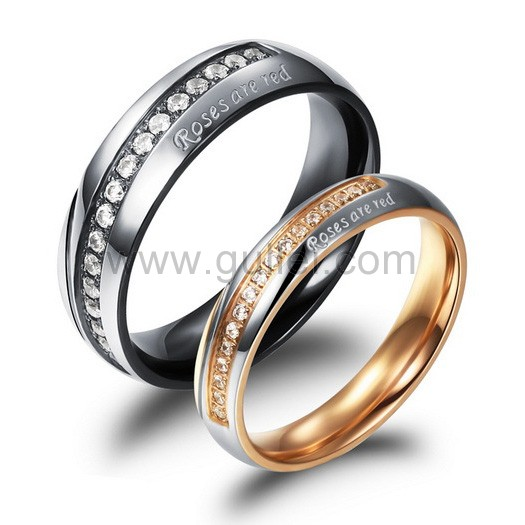 engraved titanium couples promise rings for and