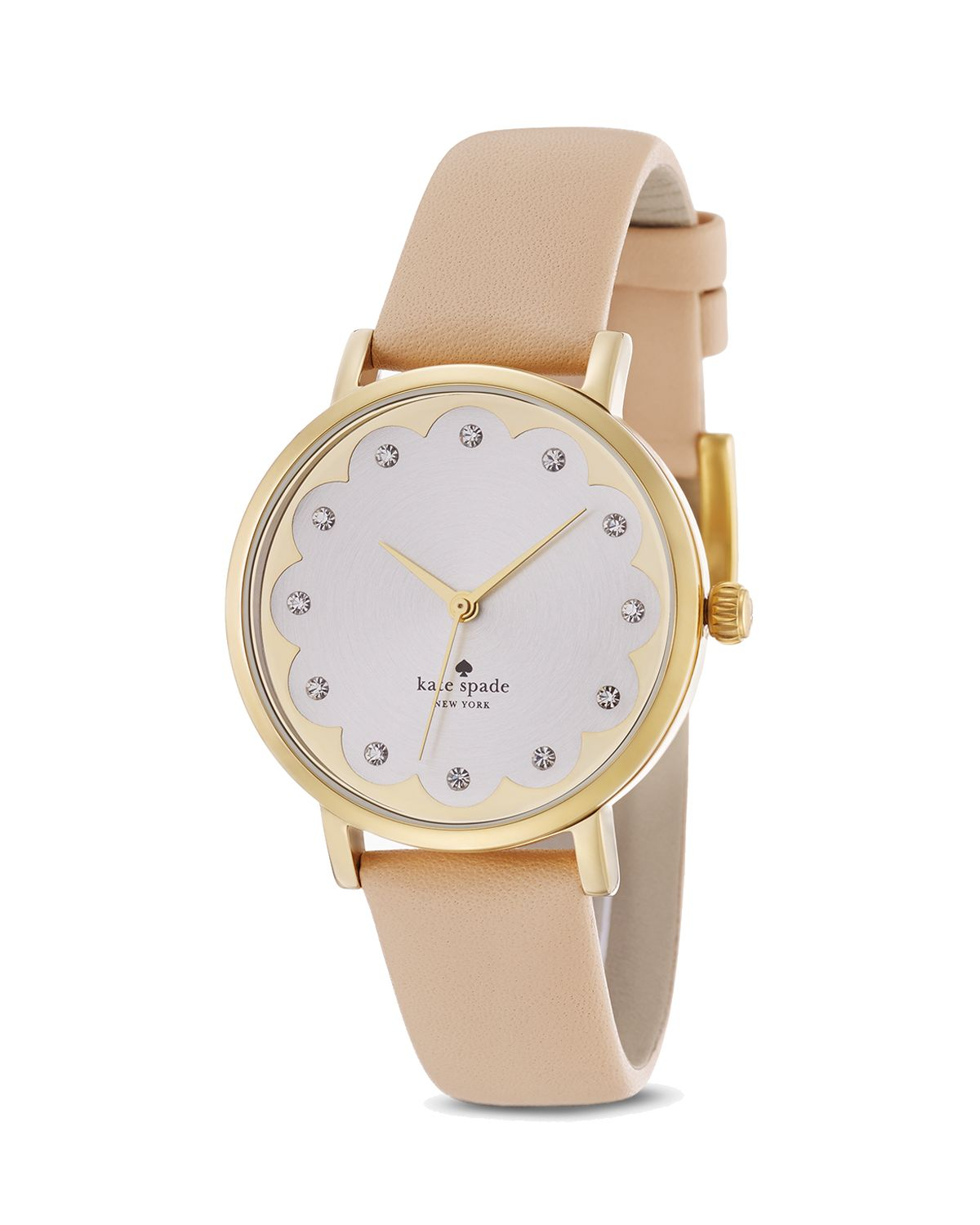 Kate Spade Beige Scalloped Dial Metro Watch 34mm