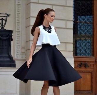 black skirt flare skirt circle skirt