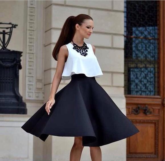 circle skirt black skirt flare skirt