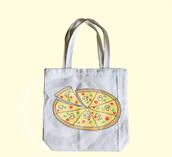bag,tote bag,pizza tote bag,pizza bag,food tote,pizza,canvas tote bag,eco bag,shopping tote,market tote,book tote bag,school tote bag