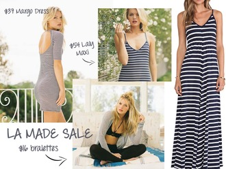dress stripes maxi maxi dress striped maxi dress tank top bralette bra black lace black lace bralette open back open back dresses striped dress sale la made fall outfits fall dress mini dress boho chic
